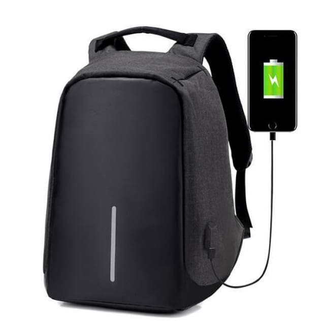 Anti-Theft Travel Backpack - Black