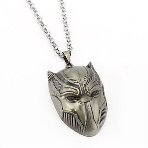 Black Panther Pendant Necklace - Silver