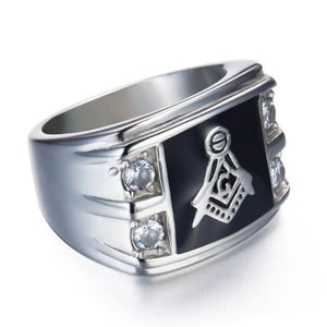 Cirew - Masonic Ring - 7 / Silver - Rings