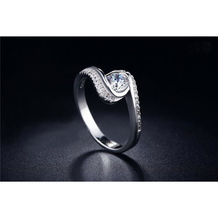 Classy Cubic Zirconia Crytal Ring