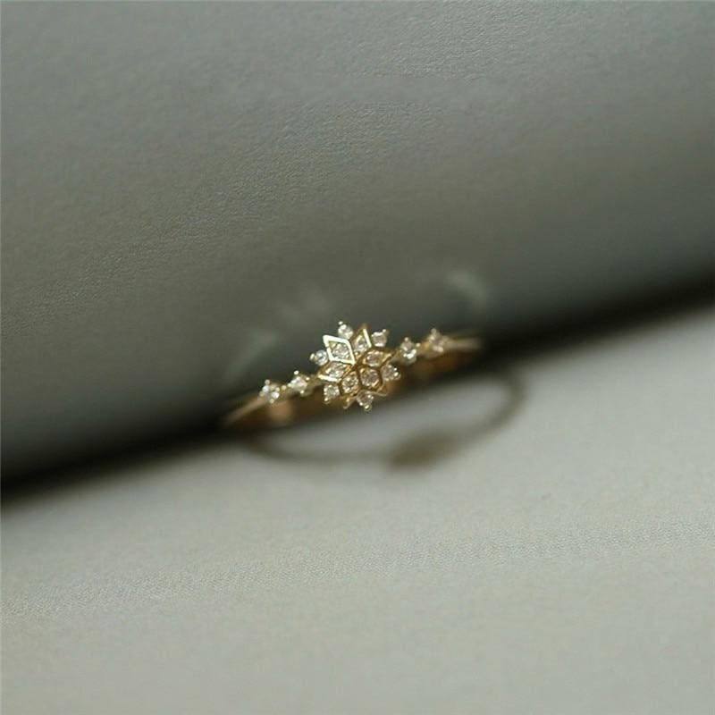 Crystallized Snowflake Dainty Ring - 6