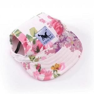 Cute Dog Baseball Cap - Flower / S