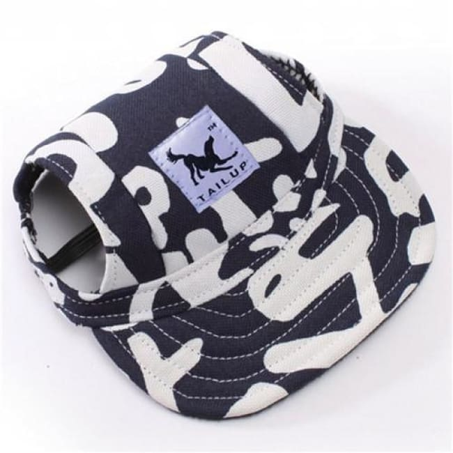 Cute Dog Baseball Cap - White And Black / S