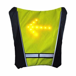 Cycling Led Signal Vest - Yellow Green - Cycling Vest