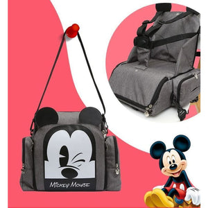 Disney Multi-Functional Mummy Bag - Gray - Diaper Bags