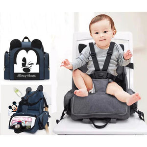 Disney Multi-Functional Mummy Bag - Navy Blue - Diaper Bags