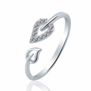 Euramica Style Love Ring - Resizable / Antique Silver Plated