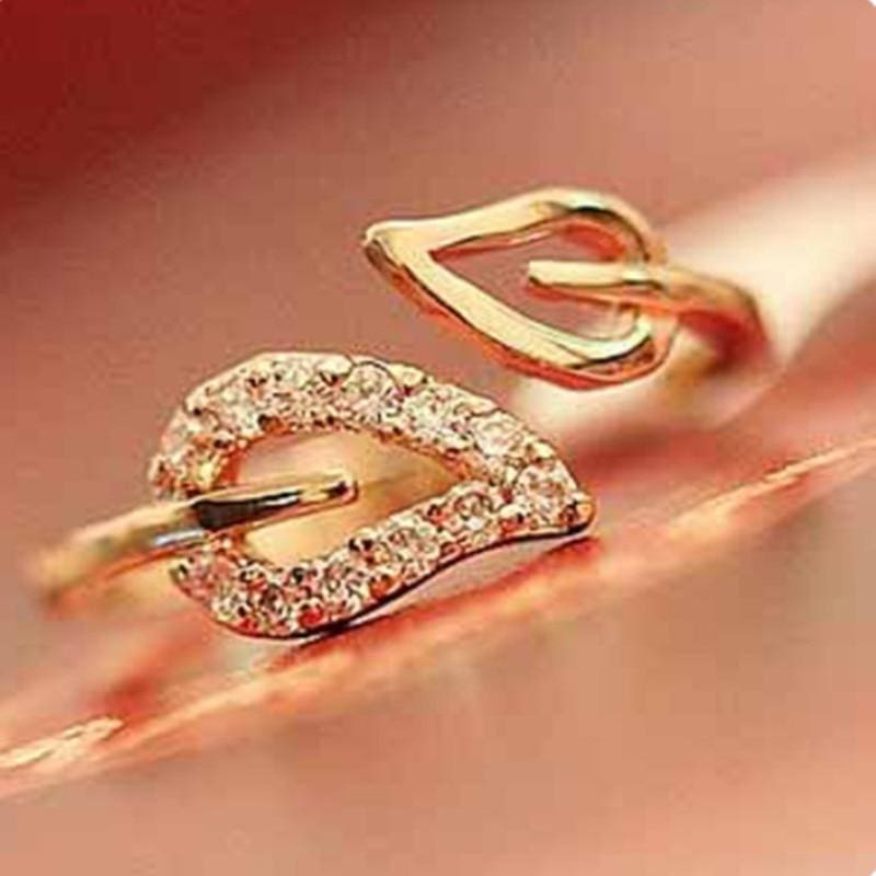 Euramica Style Love Ring - Resizable / Champagne Gold