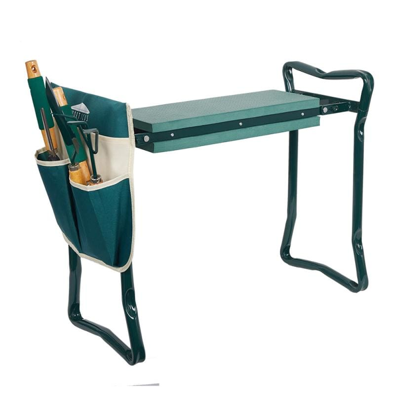 Folding Garden Kneeler & Seat Chair With Pockets - Garden Chairs