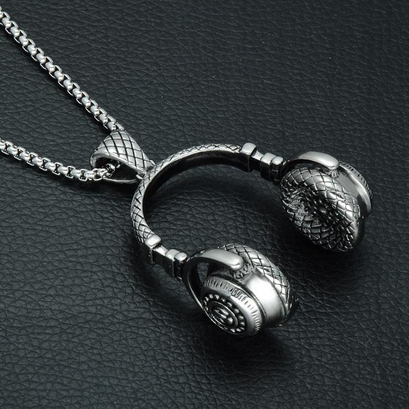Headphone Necklace - Silver / 60Cm