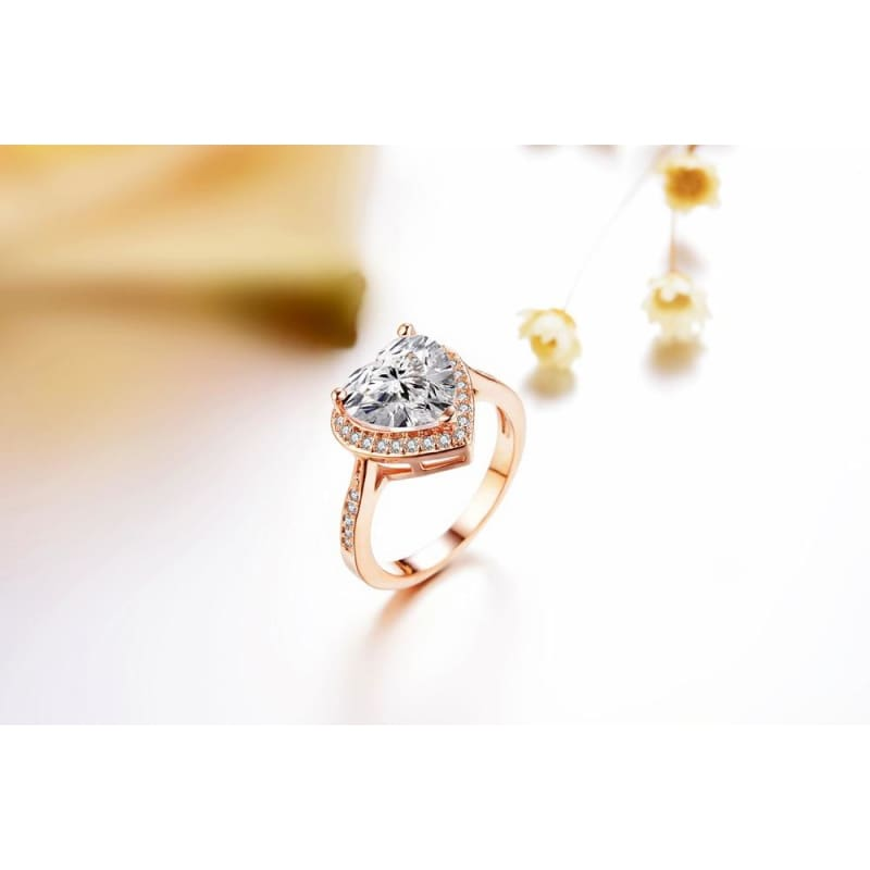Heart Shaped Zirconia Ring