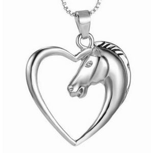 Horse In Our Heart Necklace - Silver Plated