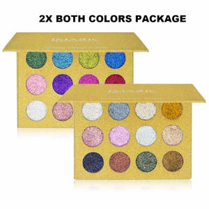 Imagic Luxury Collection Pressed Glitter Palette - 2X Both Colors For $75