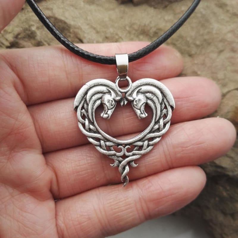 Jumbo Chain - Celtic Horse Heart Necklace