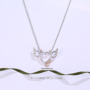 Jumbo Chain - Devil Wings Heart Necklace - Pendant Necklaces