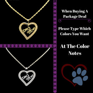 Jumbo Chain - Dog Mom Heart Necklace - Buy 2 For $45