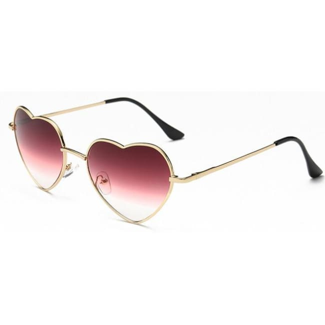 Jumbo Chain - Heart Shaped Sunglasses For Women - Sunglasses