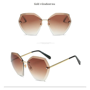 Jumbo Chain - Transparent Gradient Sun Glasses Women - Sunglasses