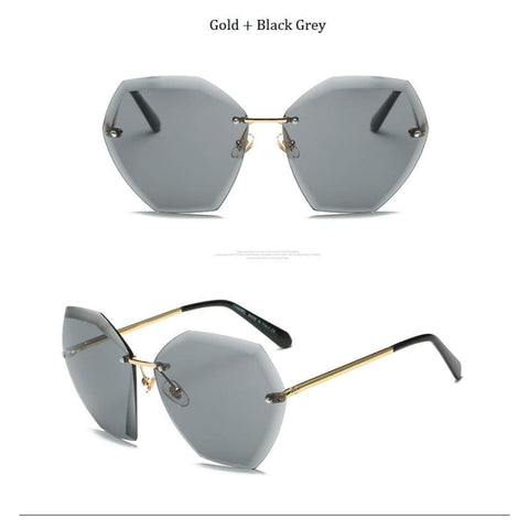Jumbo Chain - Transparent Gradient Sun Glasses Women
