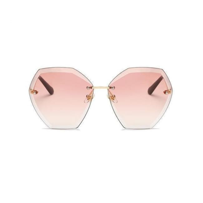 Jumbo Chain - Transparent Gradient Sun Glasses Women - Light Pink - Sunglasses