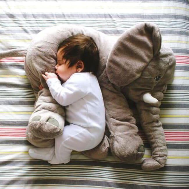 Large Stuffed Elephant Pillow