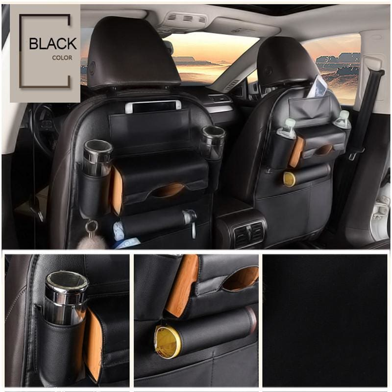 Leather Car Seat Back Storage