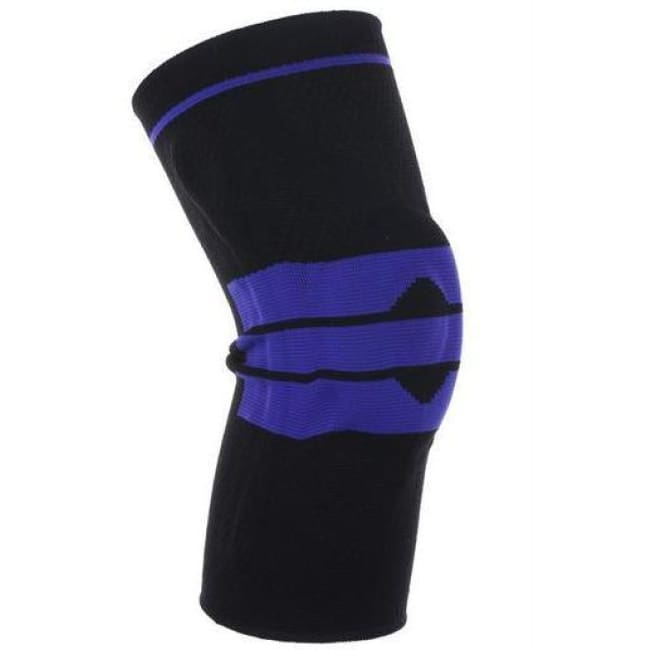 Nylon Silicone Compression Knee Sleeve Support - Black / L - Elbow & Knee Pads