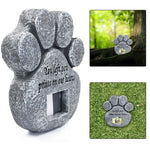Paw Print Pet Memorial Stone With Photo Frame