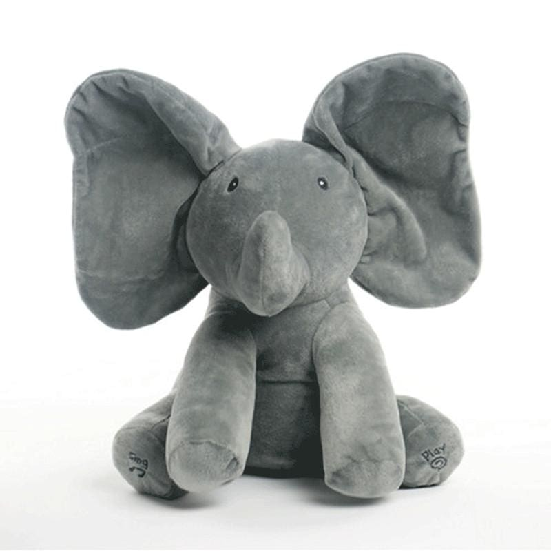 Peek A Boo Elephant For Toddlers - Gray