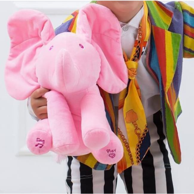 Peek A Boo Elephant For Toddlers - Pink