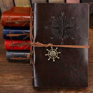 Pirate Leather Vintage Notebook - Coffee / 16.5X23.5Cm/5.1X7.2 In