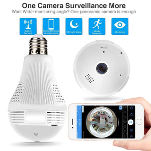 WIFI 360° Light Bulb Security Camera