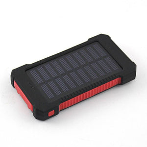 Solar Travel Power Bank - Red