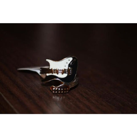 Stainless Steel Punk Style Guitar Ring
