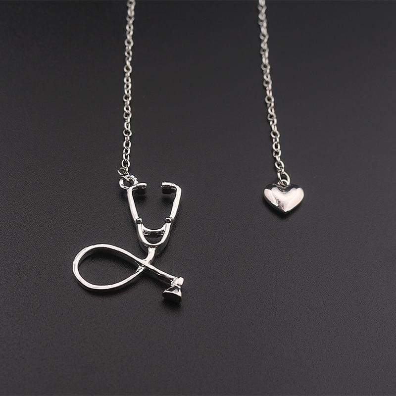 Stethoscope Nurse Necklace - Silver / 50Cm - Pendant Necklaces