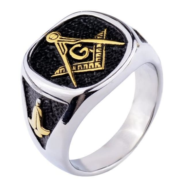 The Mix - Masonic Ring - 7 / Gold And Silver - Rings