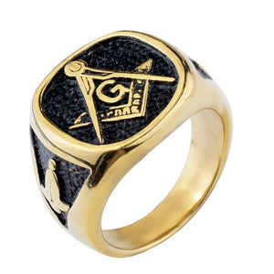The Mix - Masonic Ring - 7 / Gold - Rings