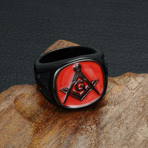 The Red - Masonic Ring (For Men) - 8