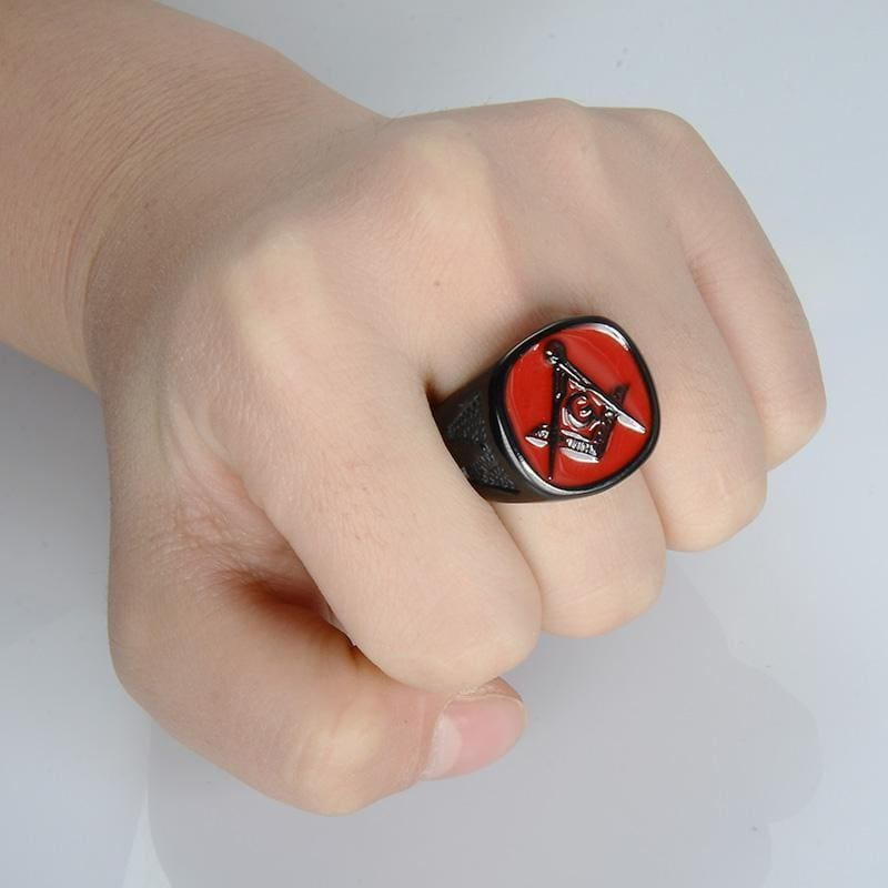The Red - Masonic Ring (For Men)