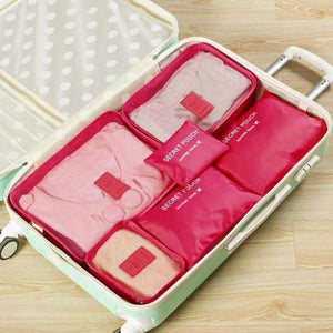 Travel Luggage Organizer (6 Pieces) - Red