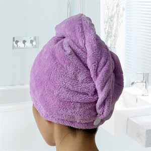 Absorbent Microfiber Hair Drying Towel 2