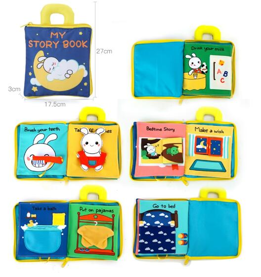 the rabbit cloth book is focusing on teaching children about daily habits and their importance