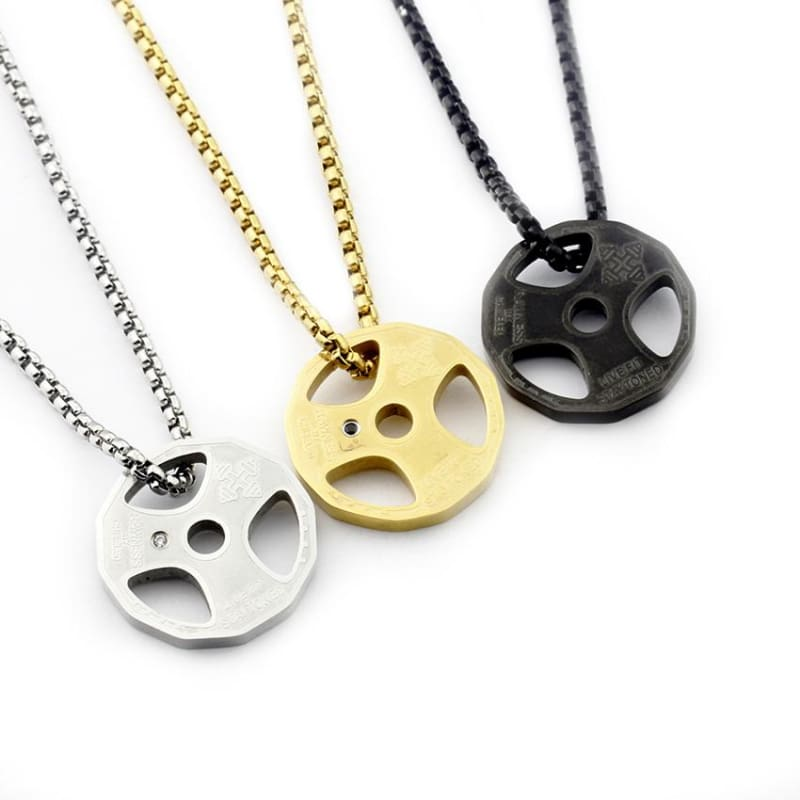 Weight Plate Necklace - Pendant Necklaces