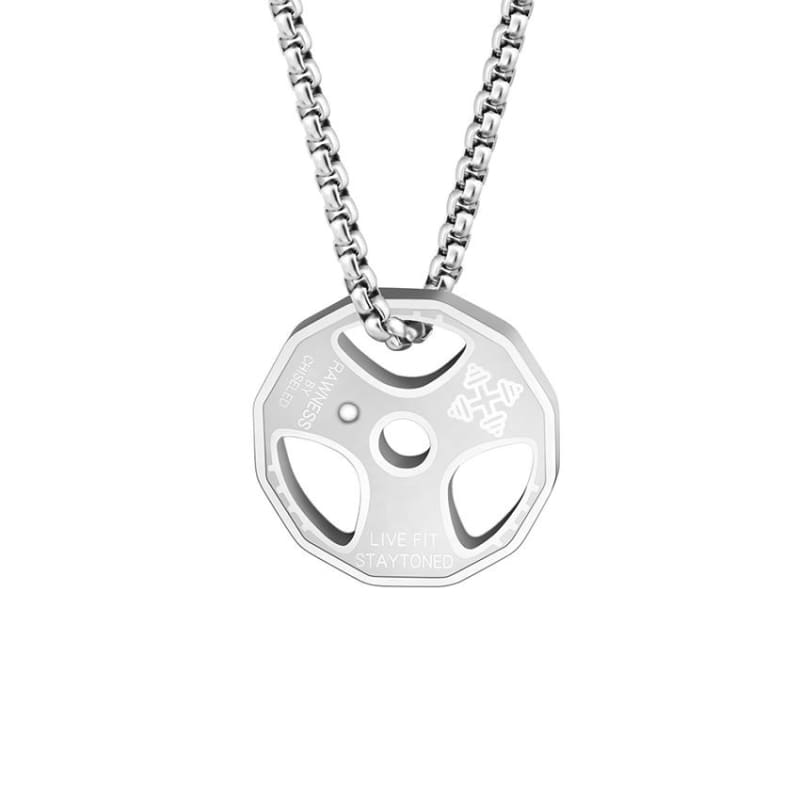 Weight Plate Necklace - Titanium Plated - Pendant Necklaces
