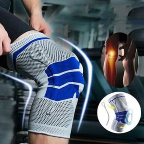 Nylon Silicone Compression Knee Sleeve Support