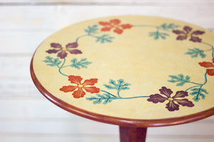 Hand-Painted Round Side Table
