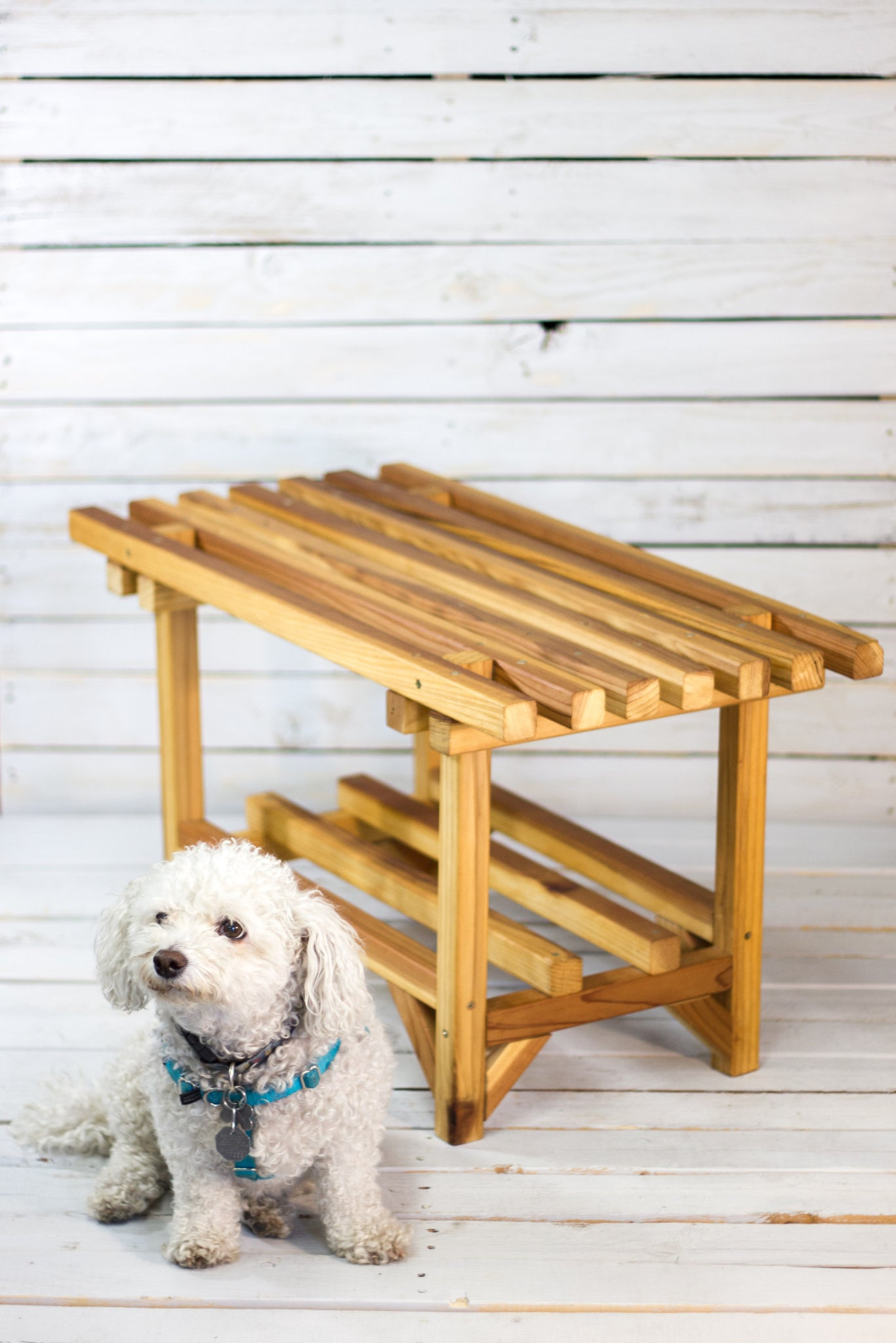 Cedar Coffee Table Bench – Reclaimed Style Furniture Art