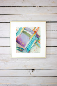 "Original Watercolor Abstract - ""Pencil Sharpener II"""