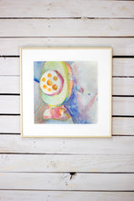 "Original Abstract Watercolor - ""Pencil Sharpener 1"""