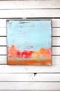Robin's Egg Blue Abstract Painting
